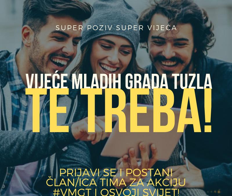 Vijeće mladih Grada Tuzla pruža vam priliku da postanete volonter/ka!