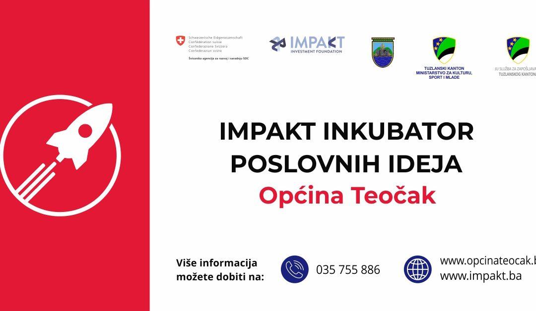 Objavljeni javni pozivi za učešće u Impakt inkubatoru poslovnih ideja Tuzlanskog kantona
