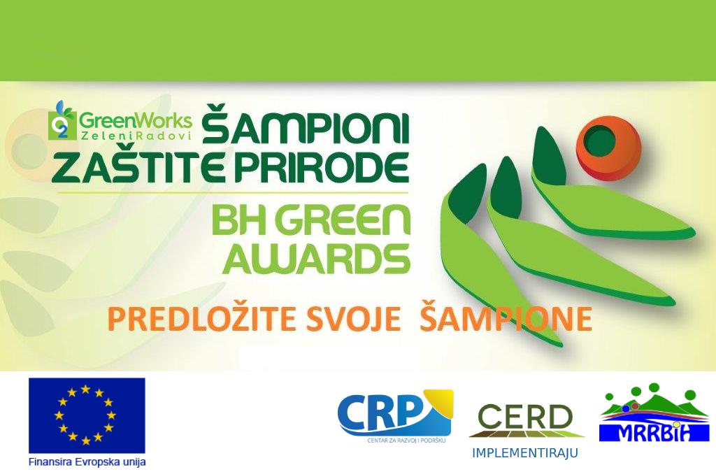 Šampioni zaštite prirode – BH GREEN AWARDS 2021