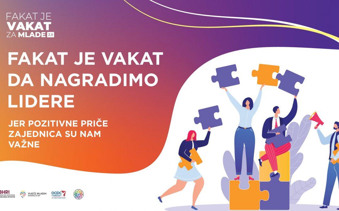 VMFBiH: Javni poziv/Fakat je vakat da nagradimo lidere