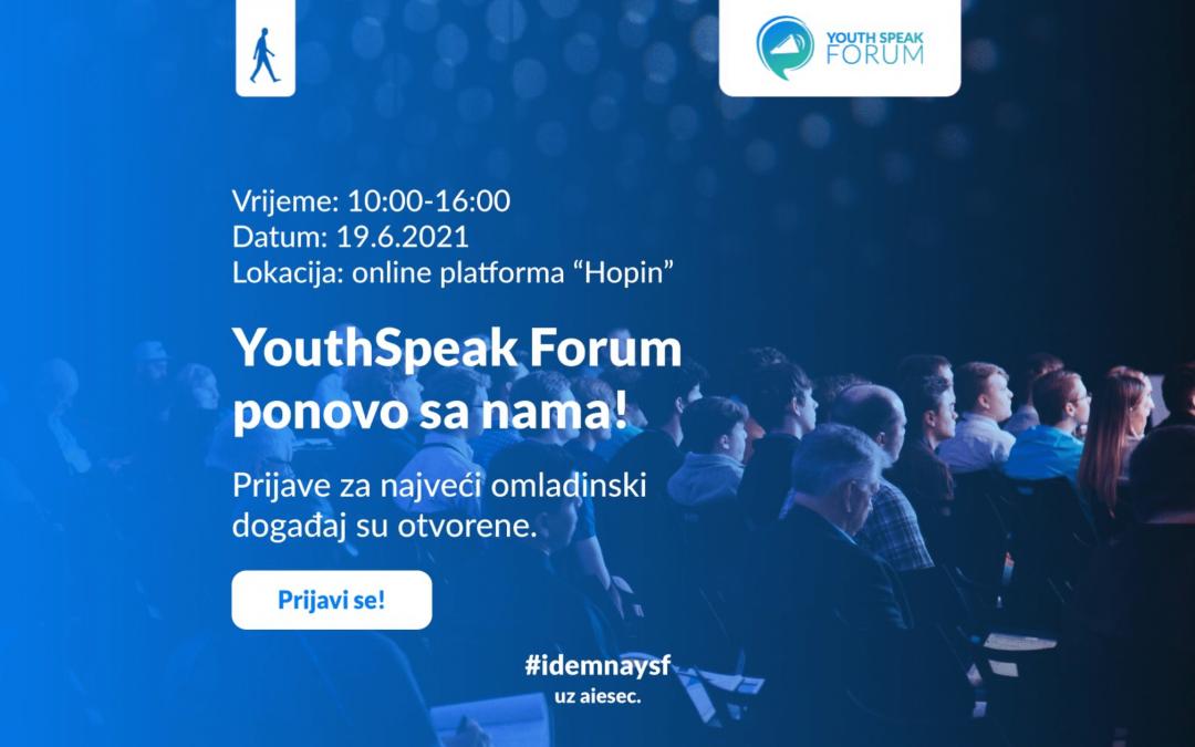 Prijavi se na YouthSpeak Forum 2021