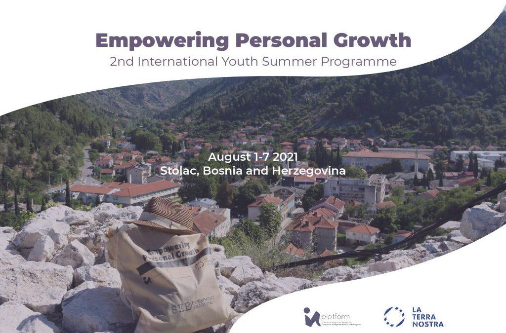 """Prijavite se na 2. međunarodni ljetni program za mlade """"Empowering Personal Growth"""""""