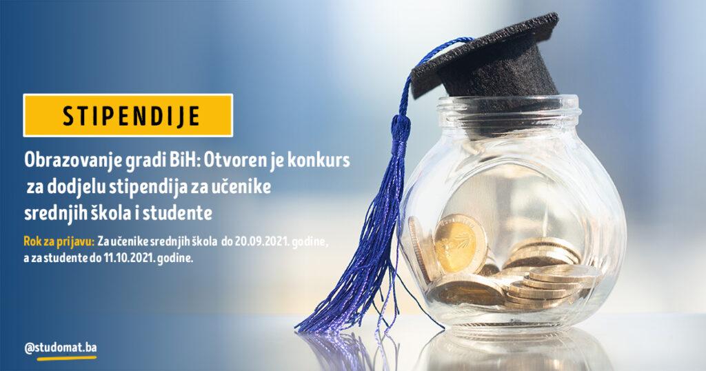 Obrazovanje gradi BiH: Otvoren je konkurs za dodjelu stipendija za učenike srednjih škola i studente