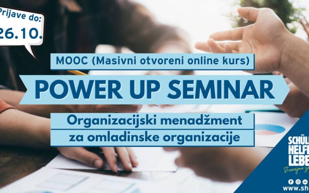 Online Power Up Seminar – Organizacijski menadžment za omladinske organizacije